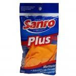 Luvas Látex M sanro plus laranja